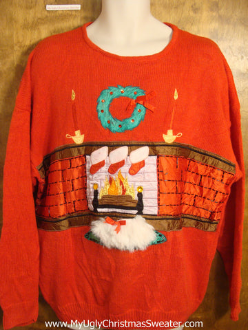 Fire and Fluffy Rug Christmas Sweater