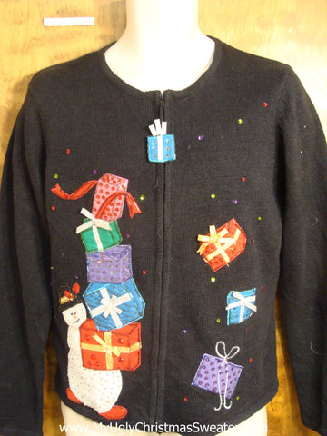 Toppling Gift Tacky Sweater