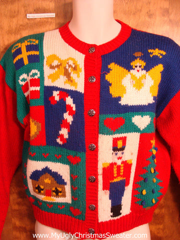 Angel and Nutcracker Christmas Sweater