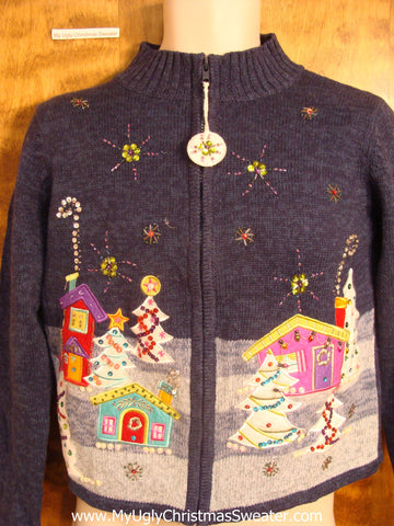Blue and Pastels Child Christmas Sweater