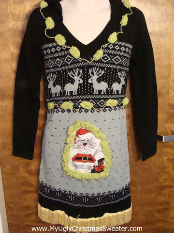 Black and Grey Nordic Christmas Dress