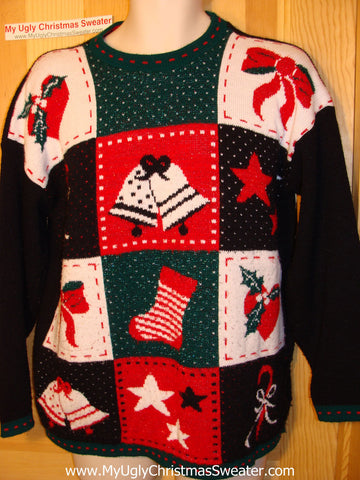 Tacky Ugly Christmas Sweater Vintage 80s (f7)