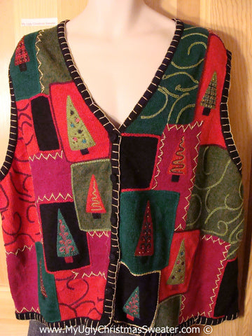 Tacky Christmas Sweater Party Ugly Sweater  Vest to fit Mens XXL or XXXL (f903)