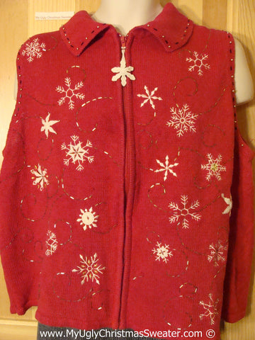 Tacky Cheap Christmas Sweater Party Ugly Sweater Vest  (f932)