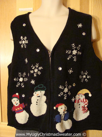 Tacky Cheap Christmas Sweater Party Ugly Sweater Vest  (f935)