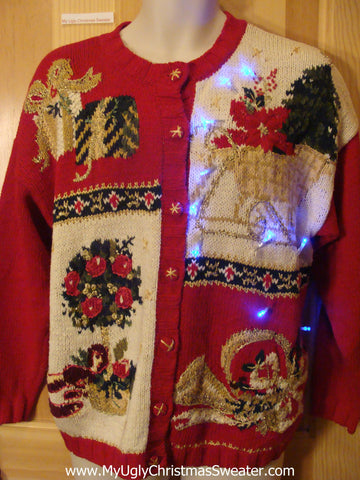 Light Up Christmas Sweater Tacky Mess of Fun
