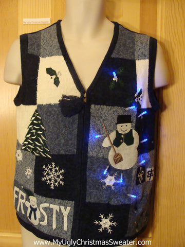 Light Up Christmas Sweater FROSTY Vest