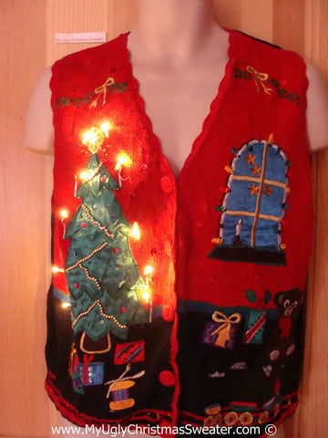 Tacky Ugly Christmas Sweater with Lights  (g106)