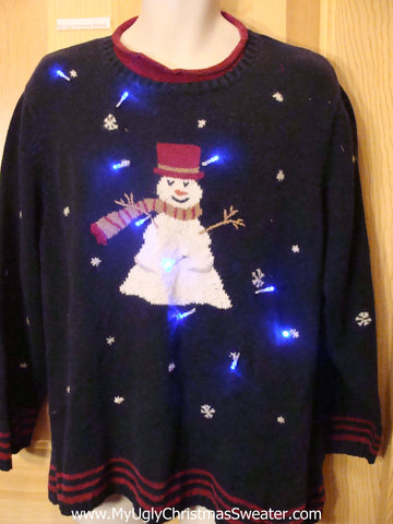 Funny Christmas Sweater with Lights Wms Mens XXL XXXL
