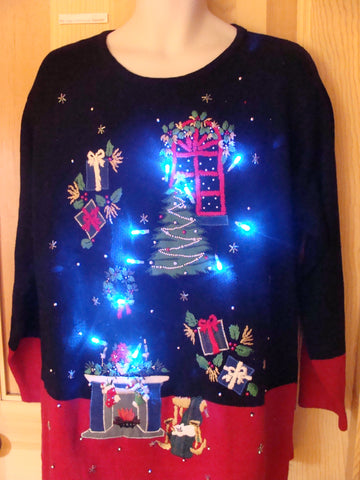 Light Up Ugly Xmas Sweater Dream Like Floating Decor