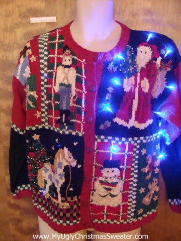 80s Old School Light Up Ugly Xmas Sweater