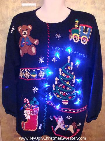 Bling Tree Light Up Ugly Xmas Sweater Pullover