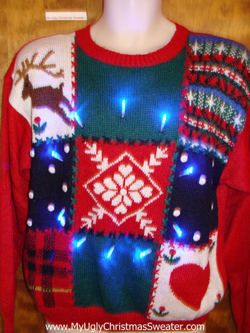 Light Up Ugly Xmas Sweater like the USPS Commercial
