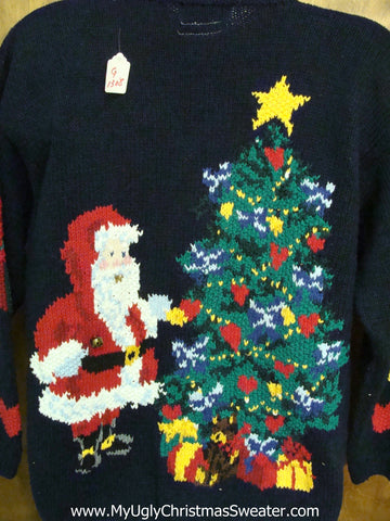 Awesome 2sided 80s Ugly Christmas Sweater with Lights