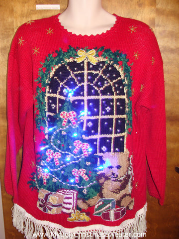Best 80s Ugly Christmas Sweater with Lights