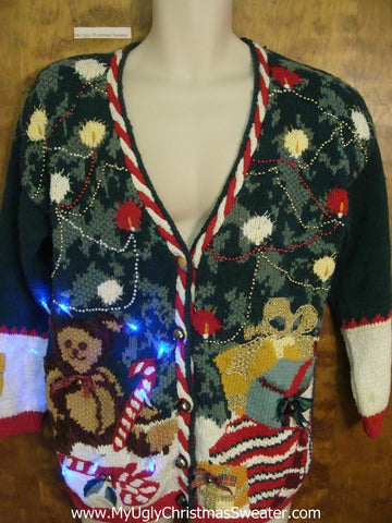 80s Corny Light Up Ugly Xmas Sweater