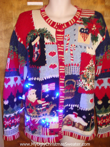 Ugliest Horrible Light Up Ugly Xmas Sweater