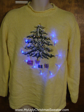 Tastefully Tacky Light Up Ugly Xmas Sweater