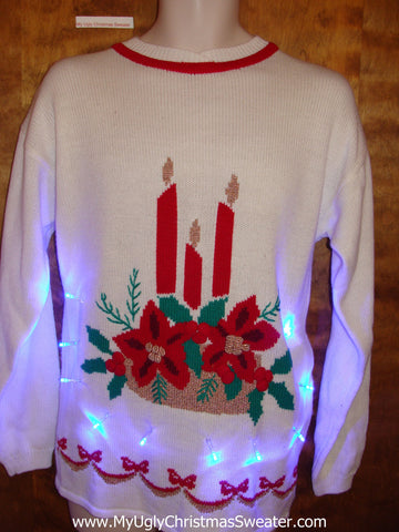Best of the Worst Cheesy 80s Light Up Ugly Xmas Sweater
