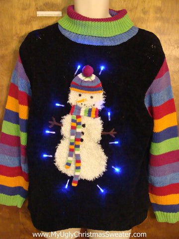 Cutest Snowman Light Up Ugly Xmas Sweater