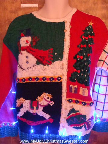 Funny Colorful Light Up Ugly Xmas Sweater
