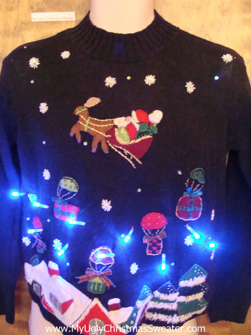 Child Size Very Small Tacky Xmas Sweater with Lights