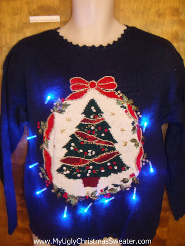 Super Cheesy Tacky Xmas Sweater with Lights