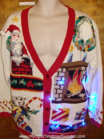Over the Top Crazy Tacky Xmas Sweater with Lights
