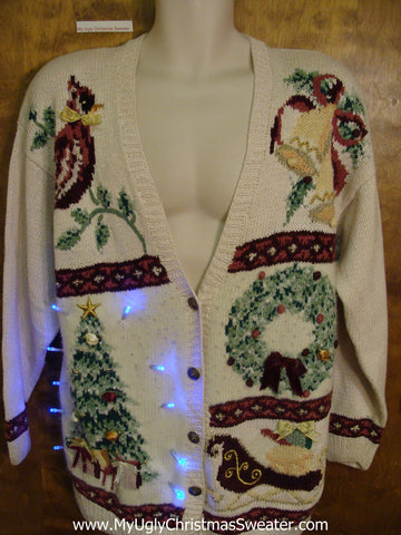 Corny 80s Mess Xmas Sweater with Lights