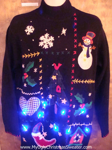 Crafty Mess of Fun Light Up Ugly Xmas Sweater