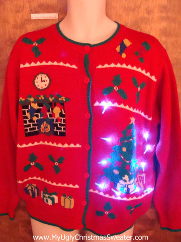 Super Corny Cute Christmas Sweater with Lights