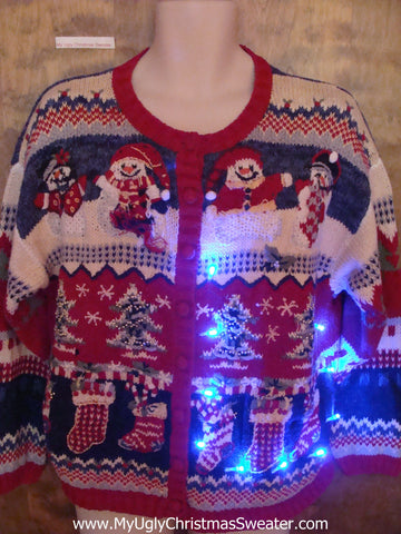 Geometric Mess 2sided Light Up Ugly Christmas Jumper