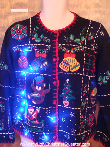 Teddy Bear or Monkey Toy and More Light Up Ugly Christmas Jumper