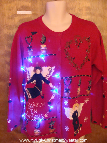 Heavens Angels Themed Light Up Ugly Christmas Jumper
