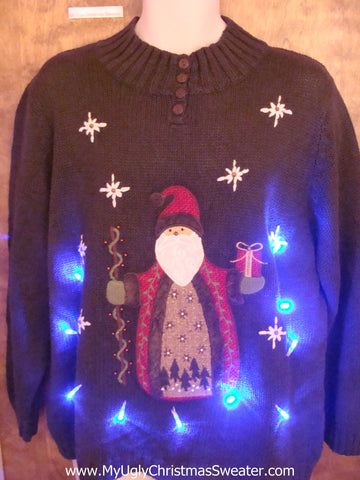 Santa the Wise Man Light Up Ugly Christmas Jumper