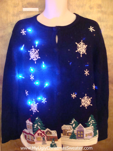 Sleepy Town Light Up Ugly Xmas Sweater