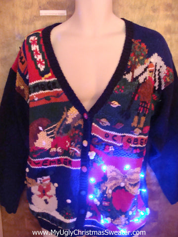 Four Months of Fun Light Up Ugly Xmas Sweater