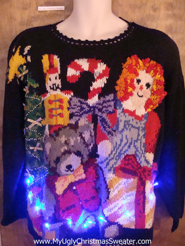 Best of the Best 80s Light Up Ugly Xmas Sweater