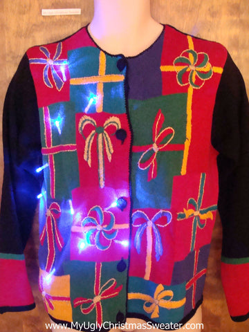 Loud and Proud Light Up Ugly Xmas Sweater