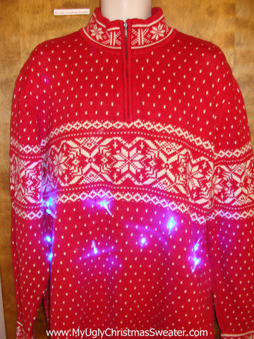 Nordic Nice 2sided Light Up Ugly Xmas Sweater