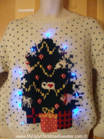 Christmas Sweater with Lights Huge Tree 2sided (g218)