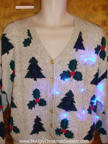 Trees and Ivy 2sided Light Up Ugly Xmas Sweater