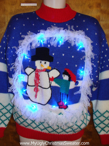 Best cute fluffy Light Up Ugly Xmas Sweater