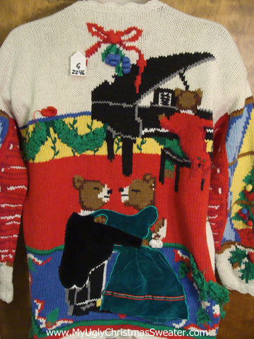 Amazing 2sided 80s BEST Light Up Ugly Xmas Sweater