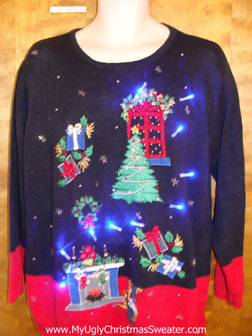 Twilight Zone Nightmare Light Up Ugly Xmas Sweater