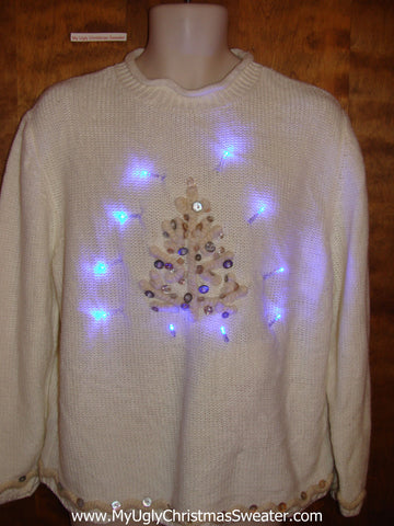 Cute Tree Light Up Ugly Xmas Sweater