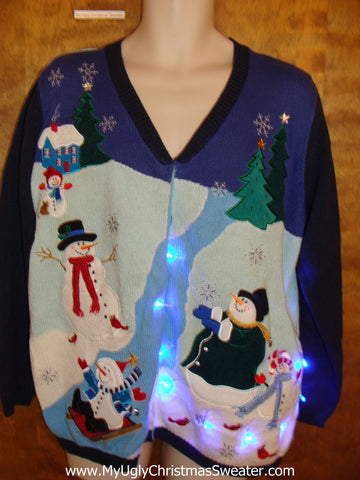 Magic in the Air Christmas Sweater with Lights