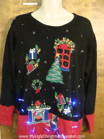 Twilight Zone Christmas Dream Sweater with Lights