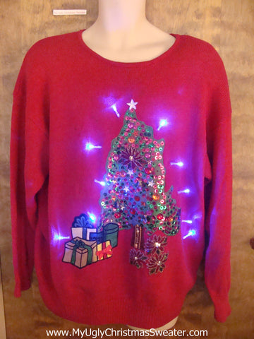 Festvie Holiday Christmas Jumper with Lights
