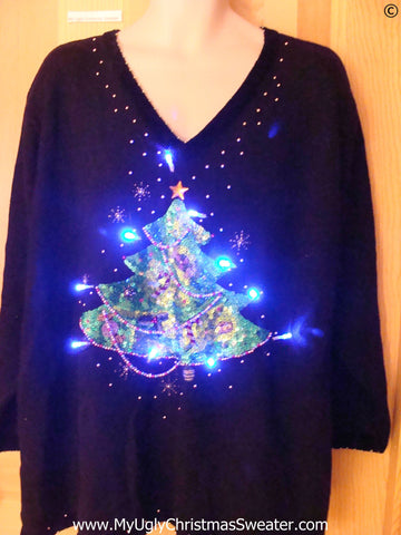 Christmas Sweater with Lights with Huge Tree (g250)